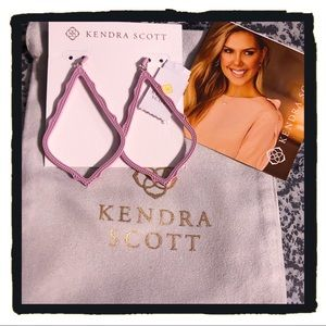 NWT Kendra Scott Sophee Matte Drop Earrings Lilac